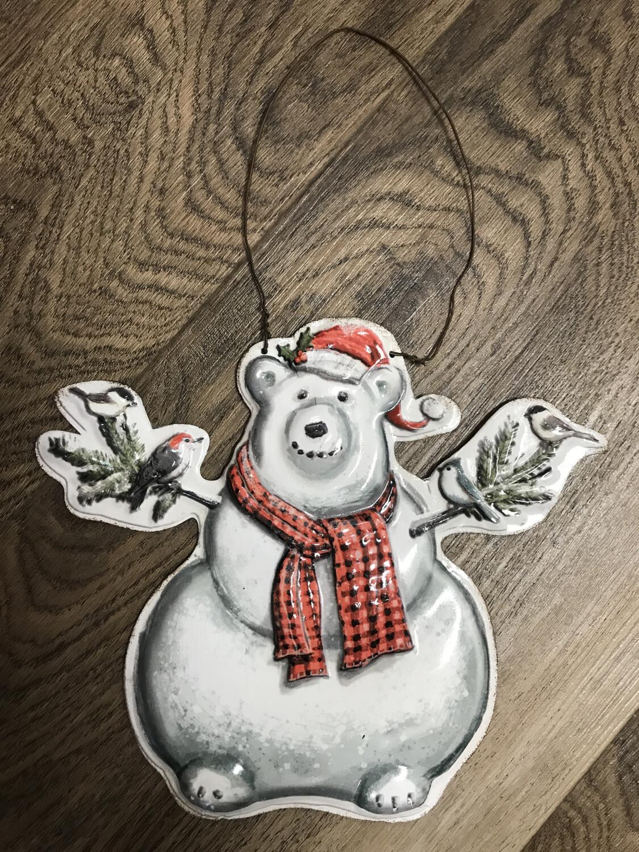 Large Tin Bear Ornament
