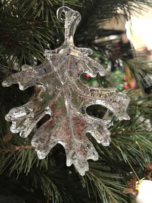 Glass Leaf Ornament