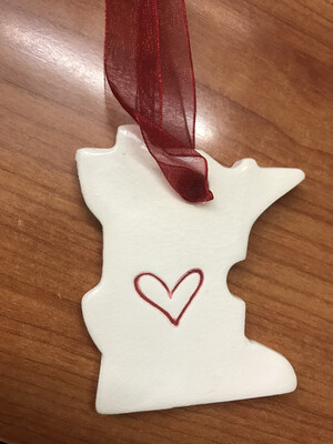 MN Pottery Ornament