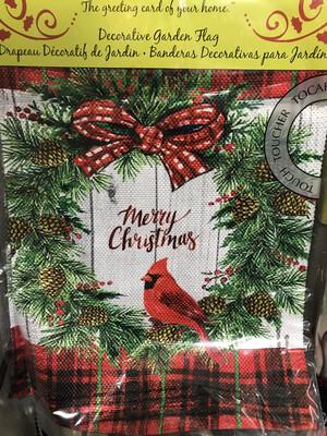 Christmas Cardinal Flag