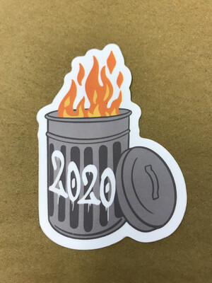 2020 Trash Can Sticker