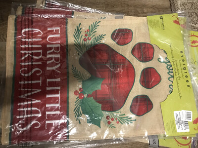 Furry Christmas Flag