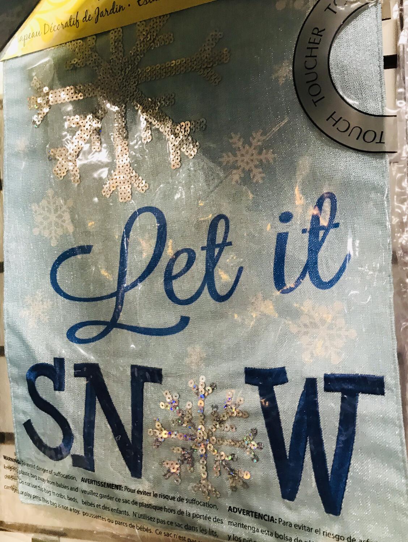 Let It Snow Flag