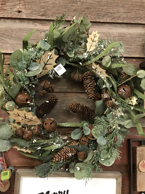 Holly & Eucalyptus Bell Wreath