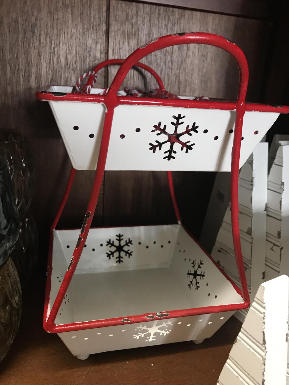 2 Tier Snowflake Tray