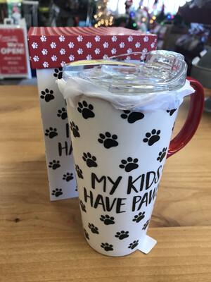 My Kids Have Paws Travel Mug