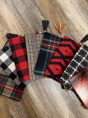 Large Wool Plaid Zipper