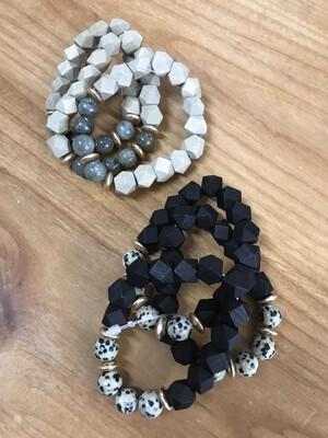 Wood & Stone Bracelet