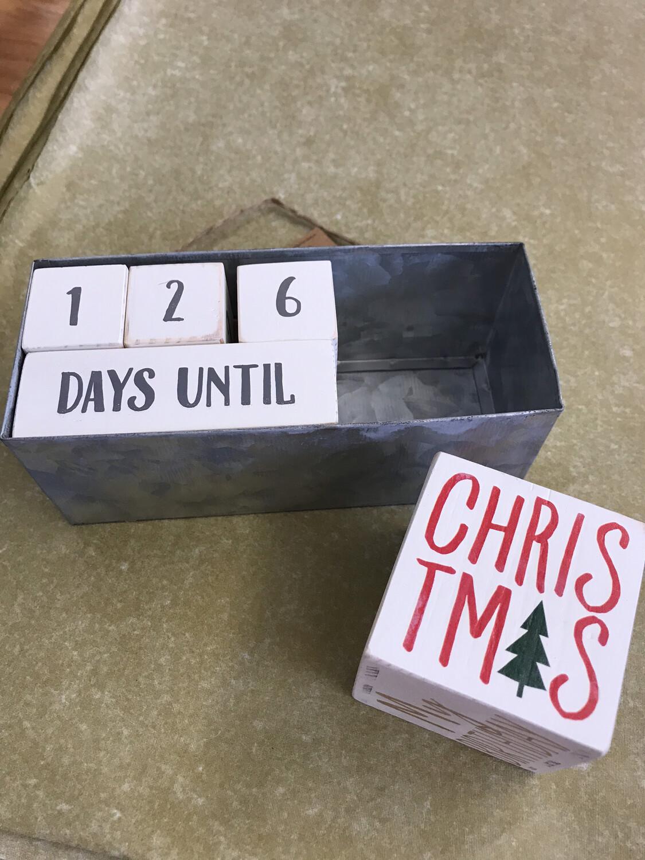 Holiday Block Countdown