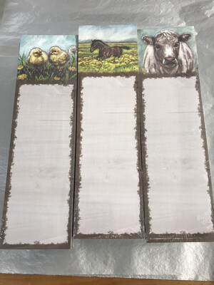 Farm Animal List Notepad