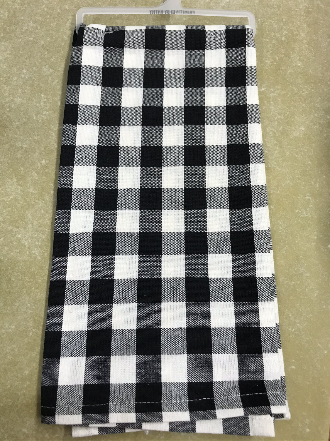 Black Buffalo Check Towel
