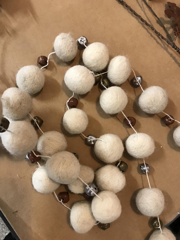 Wool Ball Garland