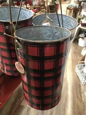 Black & Red Plaid Bucket