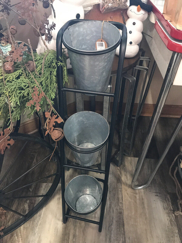 Triple Pot Planter Stand