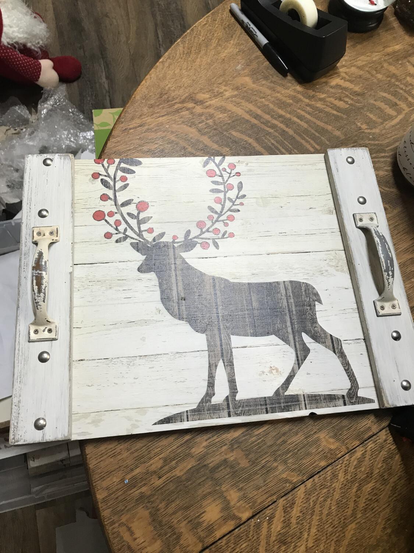 Wooden Deer Tray