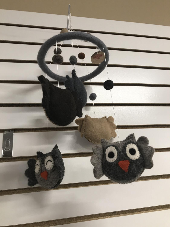 Handmade Owl Mobile