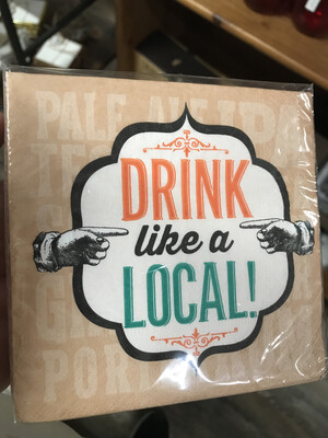 Drink Like a Local Cocktail Napkin