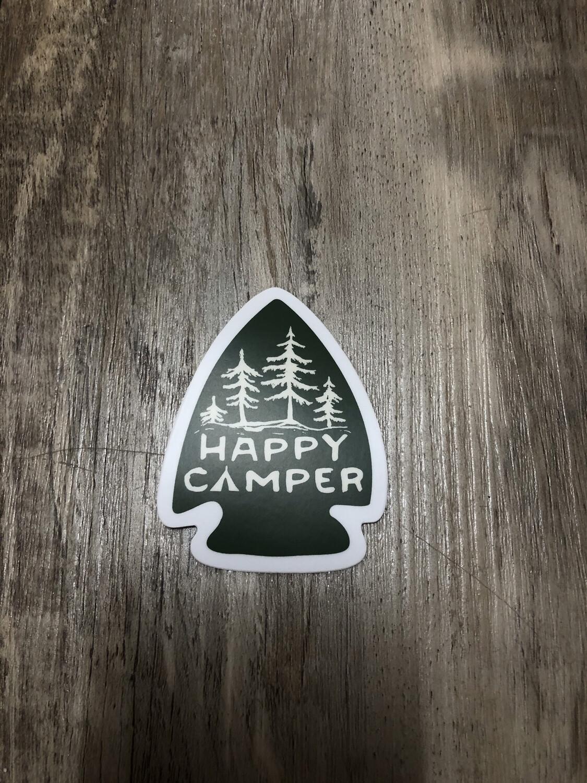 """Happy Camper 3"""" Sticker"""