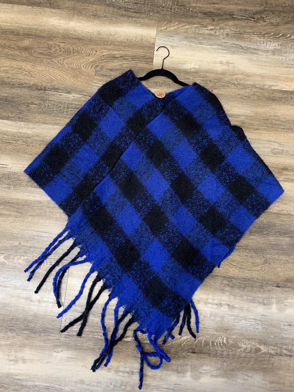 Royal Blue Poncho
