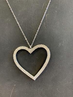 Rhinestone Heart Necklace