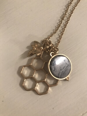Gold Honeycomb Pendant