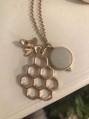 Gold Honeycomb Green