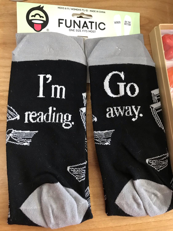 Go Away, I'm Reading Socks