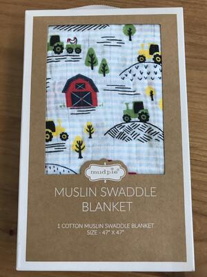 Farmhouse Swaddle Blanket