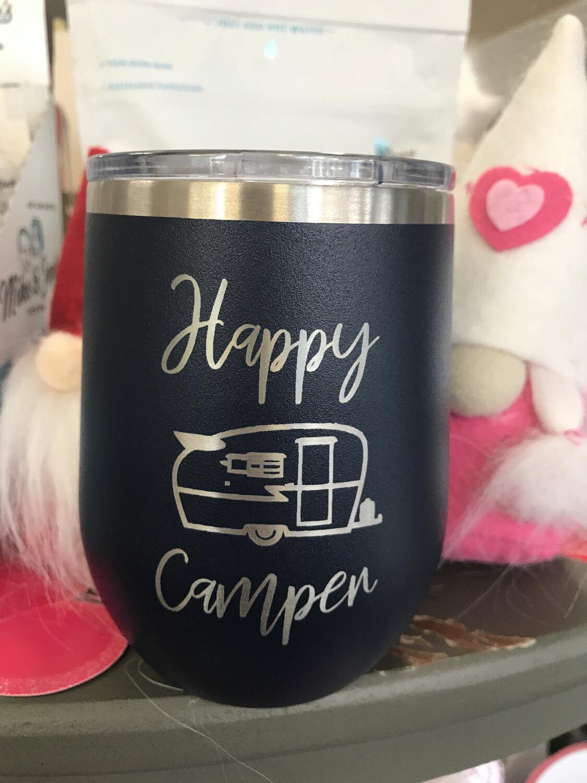 Happy Camper 12oz Navy