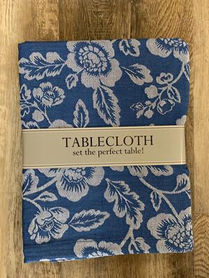 Blue Garden Jacquard Tablecloth
