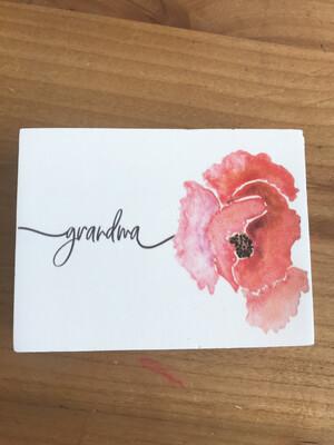 Grandma Floral Block