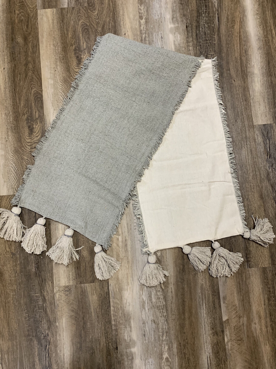 Grey Poncha Table Runner