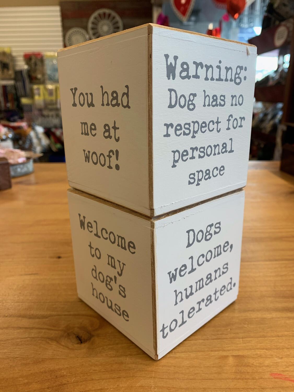 Dog Sayings Cube