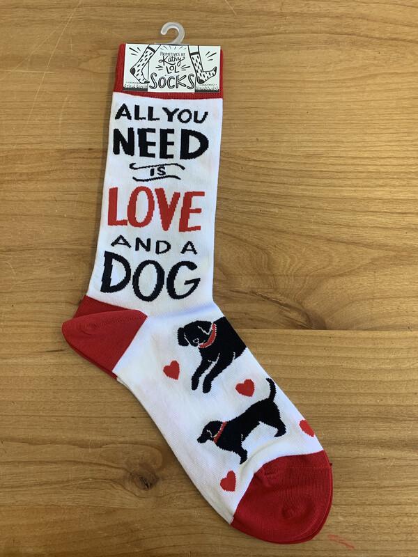 Love & A Dog Socks