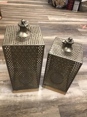 Iron/Wood/Glass Lanterns