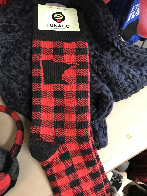 MN Plaid Socks