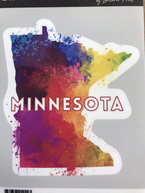 "4"" x 4"" Colorful MN Sticker"