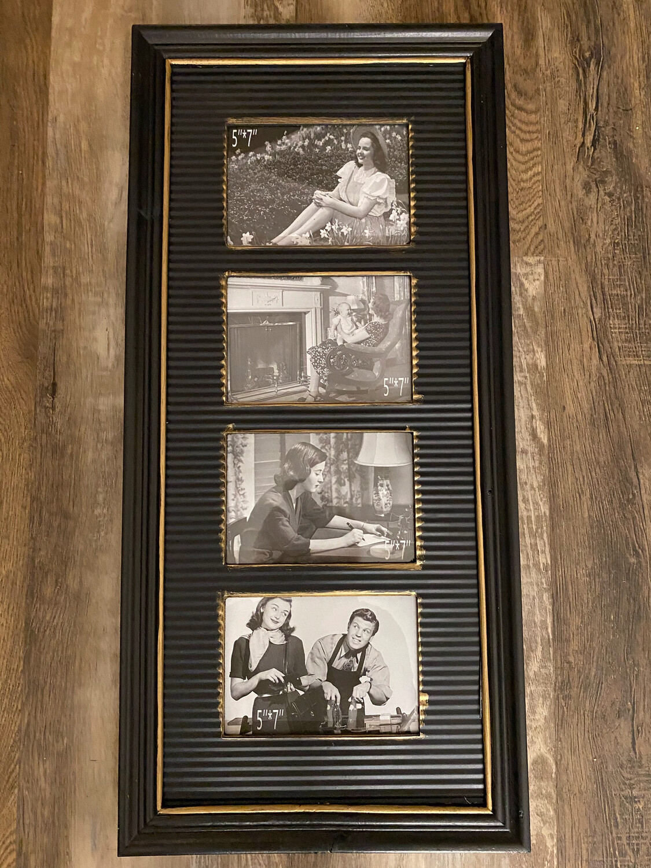 "28"" Wood & Iron Collage Frame"
