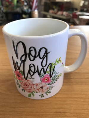 Dog Mom Floral Mug