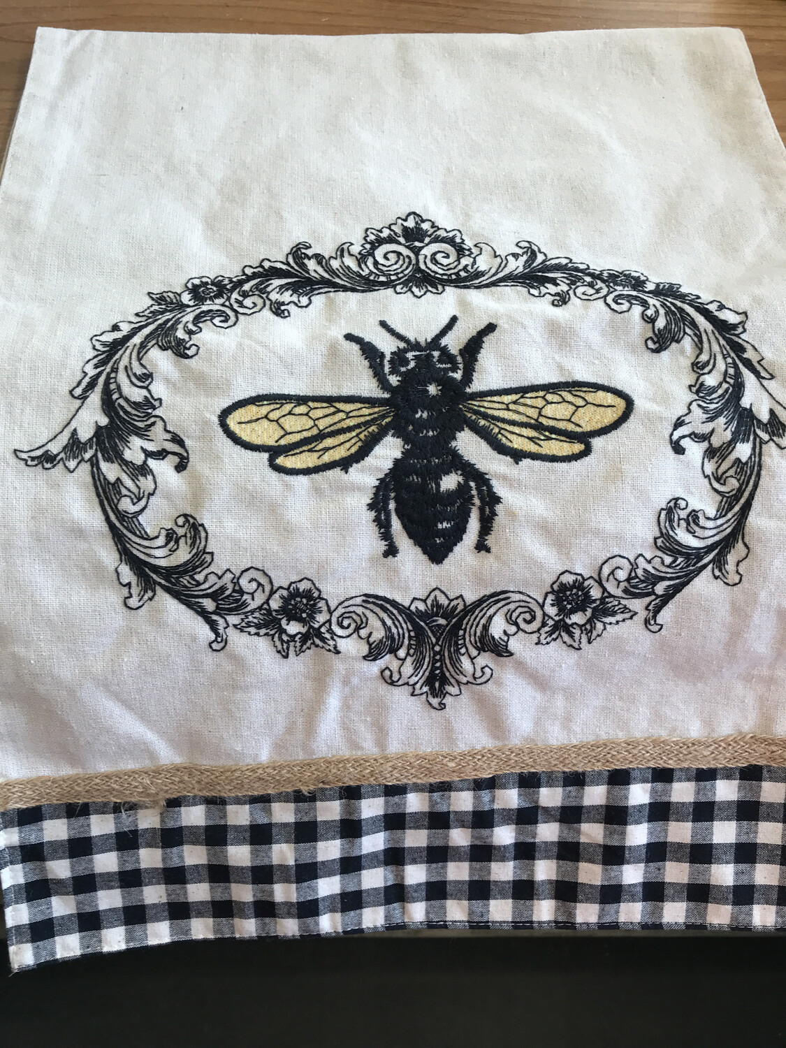 Embroidered Bee Runner
