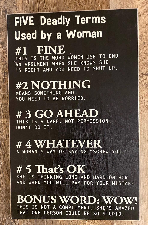 5 Deadly Terms