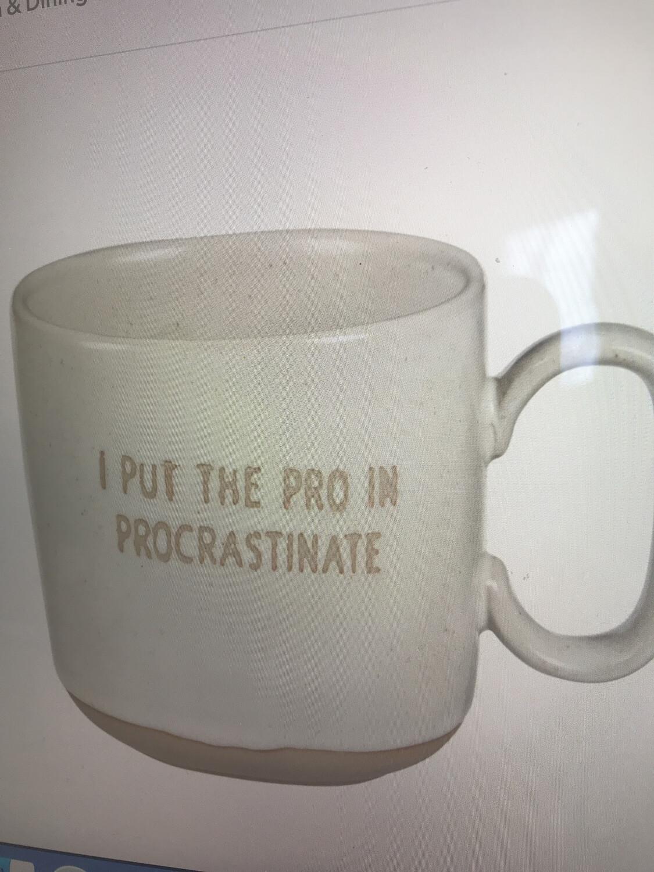 Procrastinate Stoneware Mug