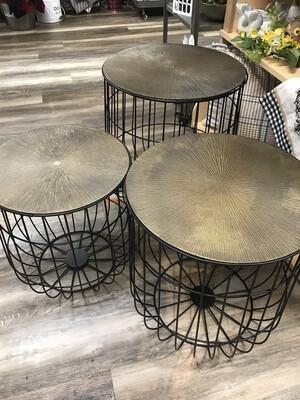 Iron Basket w/Cast Bronze Lid