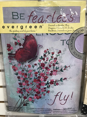 Be Fearless Butterfly Flag