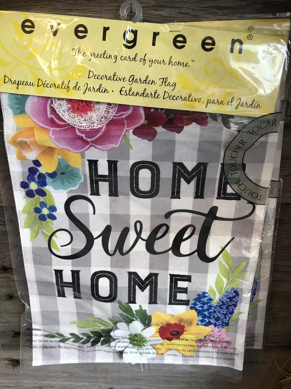 Home Sweet Home Plaid Flag