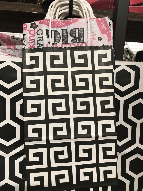 Black Sm Geo Graphics Bag
