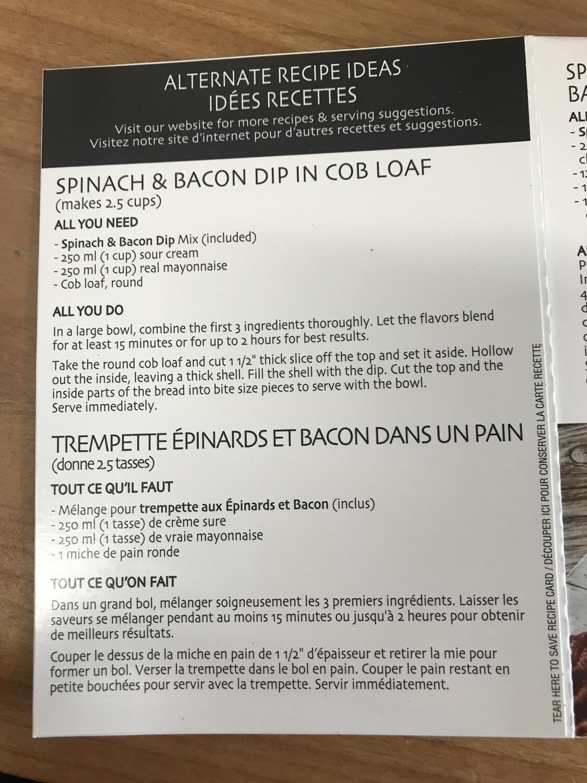 Spinach & Bacon Dip