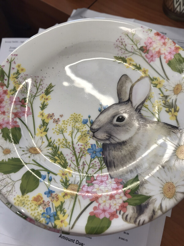 Bunny Floral Plate