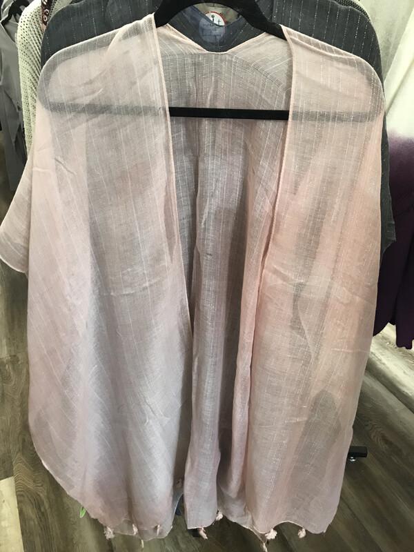 Sheer Tassel Kimono