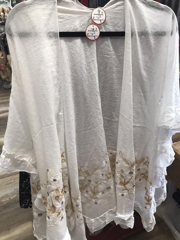 Ruffled Kimono
